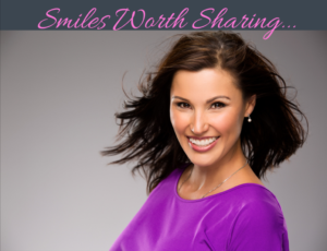 An example of bright teeth after whitening at the dental office